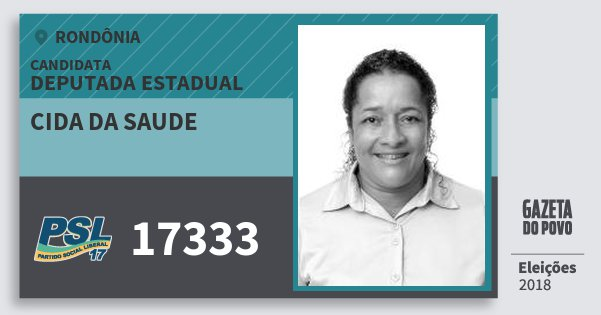 Santinho Cida da Saude 17333 (PSL) Deputada Estadual | Rondônia | Eleições 2018