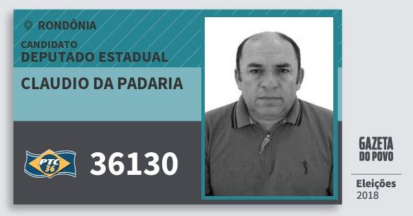 Santinho Claudio da Padaria 36130 (PTC) Deputado Estadual | Rondônia | Eleições 2018