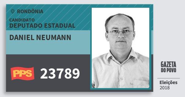 Santinho Daniel Neumann 23789 (PPS) Deputado Estadual | Rondônia | Eleições 2018