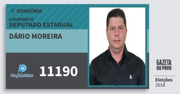 Santinho Dário Moreira 11190 (PP) Deputado Estadual | Rondônia | Eleições 2018