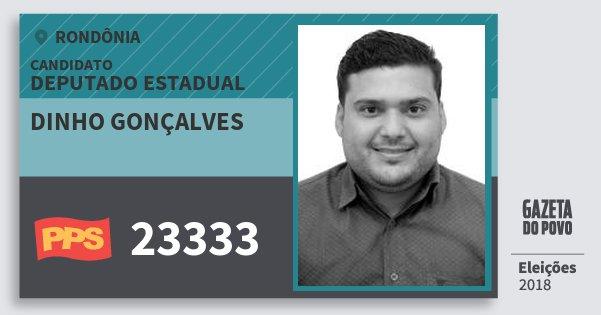 Santinho Dinho Gonçalves 23333 (PPS) Deputado Estadual | Rondônia | Eleições 2018