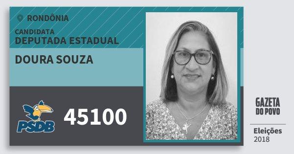 Santinho Doura Souza 45100 (PSDB) Deputada Estadual | Rondônia | Eleições 2018