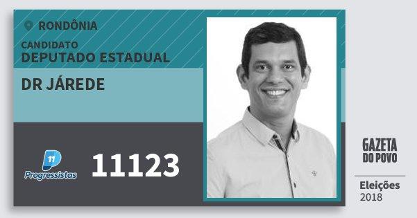 Santinho Dr Járede 11123 (PP) Deputado Estadual | Rondônia | Eleições 2018