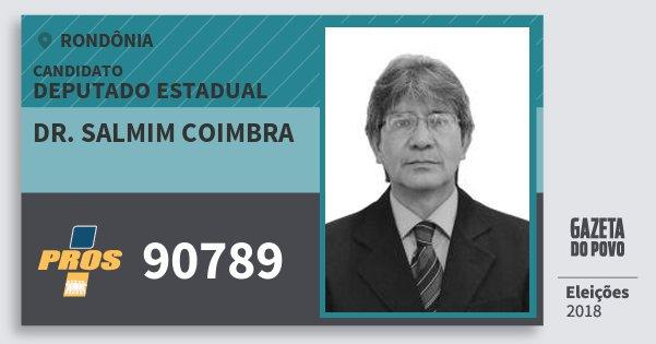 Santinho Dr. Salmim Coimbra 90789 (PROS) Deputado Estadual | Rondônia | Eleições 2018