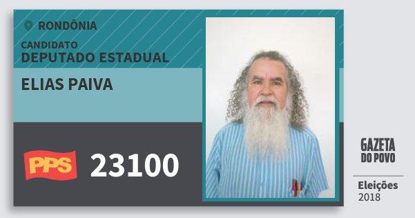 Santinho Elias Paiva 23100 (PPS) Deputado Estadual | Rondônia | Eleições 2018