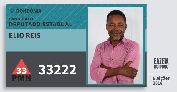 Santinho Elio Reis 33222 (PMN) Deputado Estadual | Rondônia | Eleições 2018