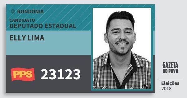 Santinho Elly Lima 23123 (PPS) Deputado Estadual | Rondônia | Eleições 2018