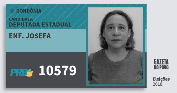 Santinho Enf. Josefa 10579 (PRB) Deputada Estadual | Rondônia | Eleições 2018