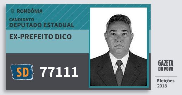 Santinho Ex-Prefeito Dico 77111 (SOLIDARIEDADE) Deputado Estadual | Rondônia | Eleições 2018