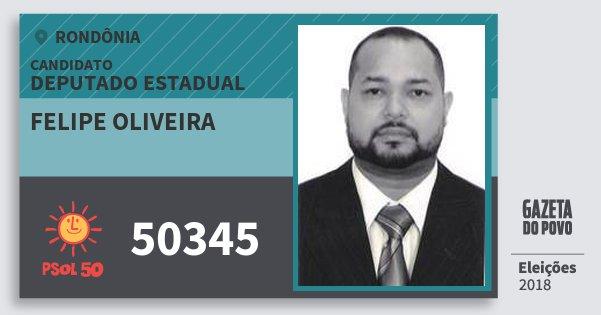 Santinho Felipe Oliveira 50345 (PSOL) Deputado Estadual | Rondônia | Eleições 2018
