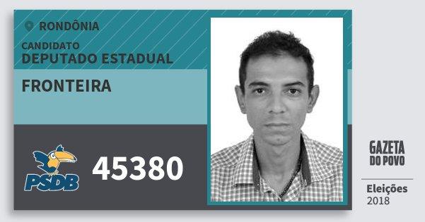 Santinho Fronteira 45380 (PSDB) Deputado Estadual | Rondônia | Eleições 2018
