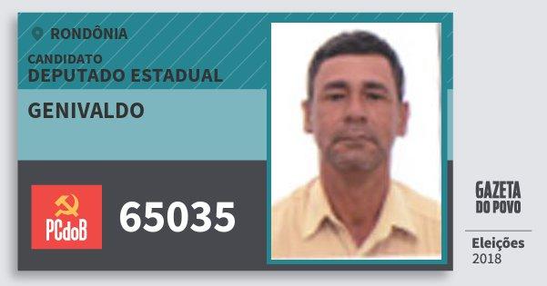Santinho Genivaldo 65035 (PC do B) Deputado Estadual | Rondônia | Eleições 2018