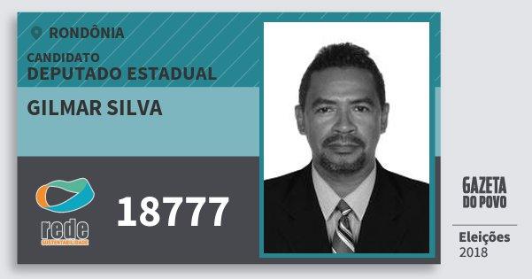 Santinho Gilmar Silva 18777 (REDE) Deputado Estadual | Rondônia | Eleições 2018