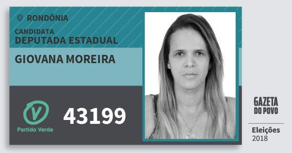 Santinho Giovana Moreira 43199 (PV) Deputada Estadual | Rondônia | Eleições 2018
