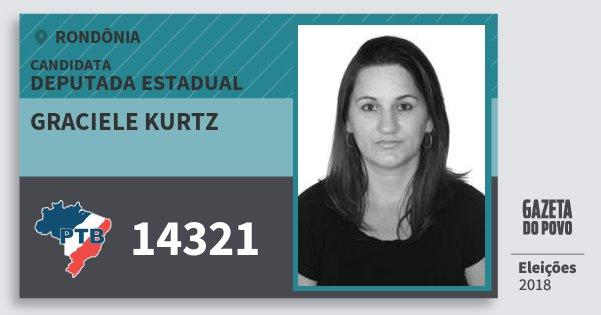 Santinho Graciele Kurtz 14321 (PTB) Deputada Estadual | Rondônia | Eleições 2018
