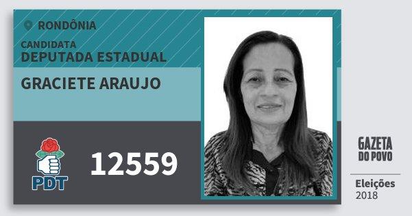 Santinho Graciete Araujo 12559 (PDT) Deputada Estadual | Rondônia | Eleições 2018
