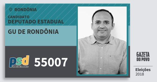 Santinho Gu de Rondônia 55007 (PSD) Deputado Estadual | Rondônia | Eleições 2018