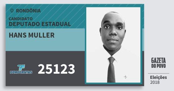 Santinho Hans Muller 25123 (DEM) Deputado Estadual | Rondônia | Eleições 2018