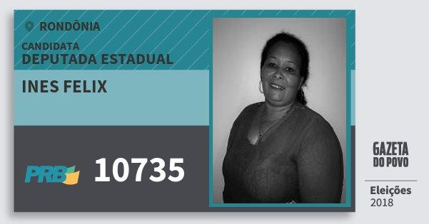 Santinho Ines Felix 10735 (PRB) Deputada Estadual | Rondônia | Eleições 2018