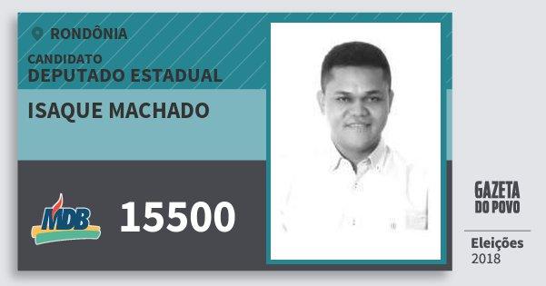 Santinho Isaque Machado 15500 (MDB) Deputado Estadual | Rondônia | Eleições 2018