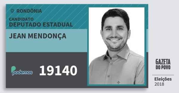 Santinho Jean Mendonça 19140 (PODE) Deputado Estadual | Rondônia | Eleições 2018