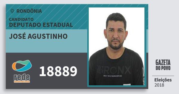 Santinho José Agustinho 18889 (REDE) Deputado Estadual | Rondônia | Eleições 2018