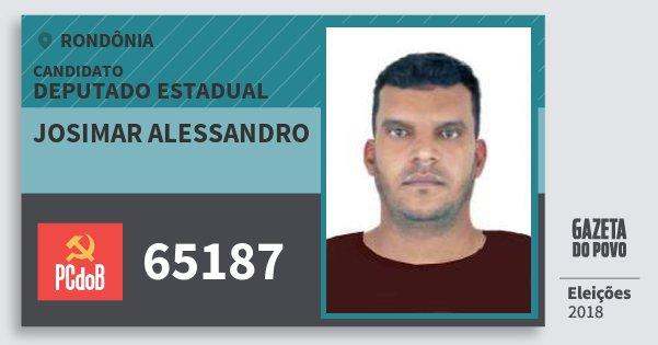 Santinho Josimar Alessandro 65187 (PC do B) Deputado Estadual | Rondônia | Eleições 2018