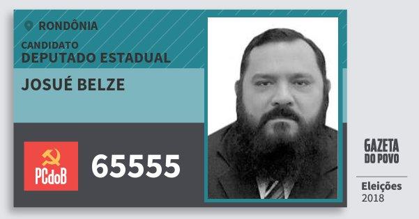 Santinho Josué Belze 65555 (PC do B) Deputado Estadual | Rondônia | Eleições 2018