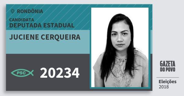 Santinho Juciene Cerqueira 20234 (PSC) Deputada Estadual | Rondônia | Eleições 2018