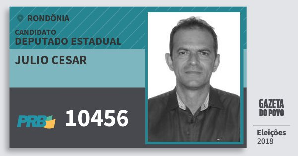 Santinho Julio Cesar 10456 (PRB) Deputado Estadual | Rondônia | Eleições 2018