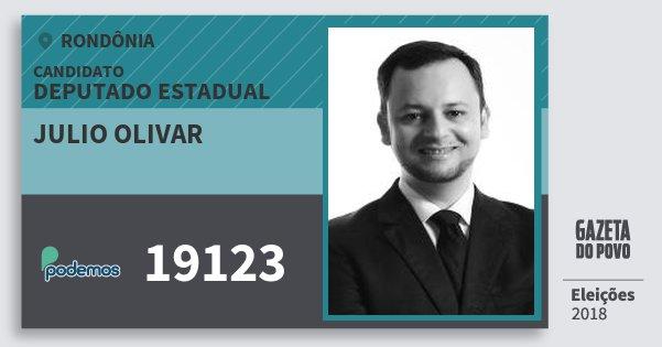 Santinho Julio Olivar 19123 (PODE) Deputado Estadual | Rondônia | Eleições 2018