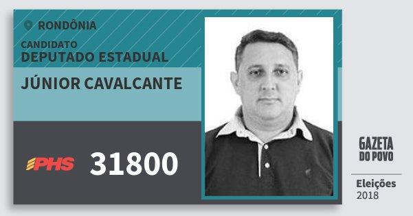 Santinho Júnior Cavalcante 31800 (PHS) Deputado Estadual | Rondônia | Eleições 2018