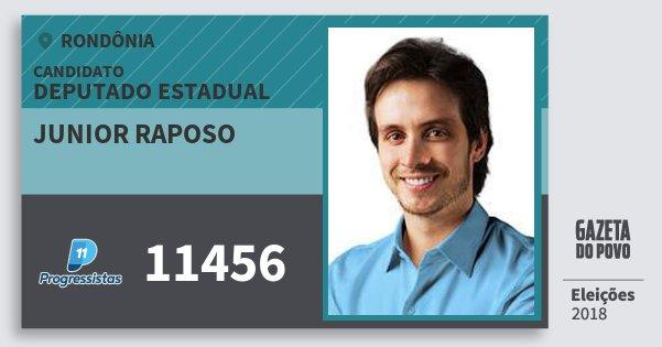 Santinho Junior Raposo 11456 (PP) Deputado Estadual | Rondônia | Eleições 2018