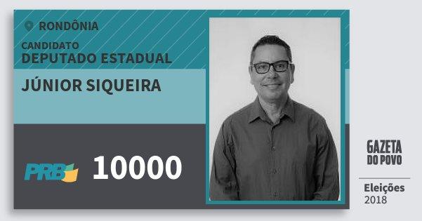 Santinho Júnior Siqueira 10000 (PRB) Deputado Estadual | Rondônia | Eleições 2018