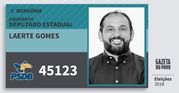 Santinho Laerte Gomes 45123 (PSDB) Deputado Estadual | Rondônia | Eleições 2018