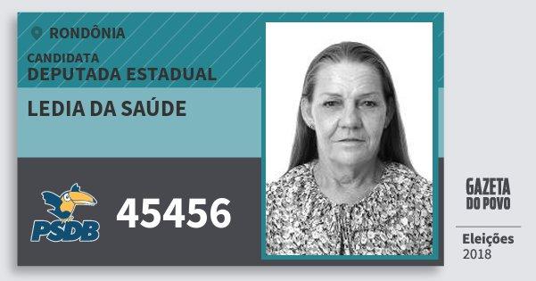 Santinho Ledia da Saúde 45456 (PSDB) Deputada Estadual | Rondônia | Eleições 2018