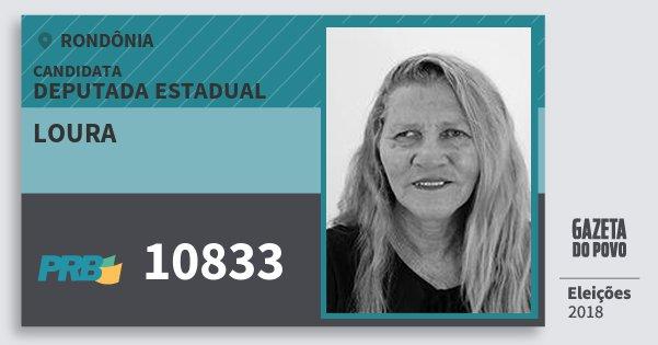 Santinho Loura 10833 (PRB) Deputada Estadual | Rondônia | Eleições 2018