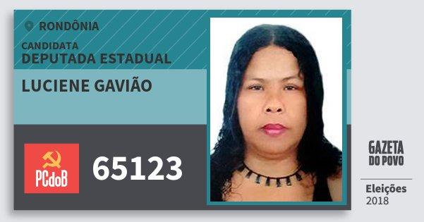 Santinho Luciene Gavião 65123 (PC do B) Deputada Estadual | Rondônia | Eleições 2018