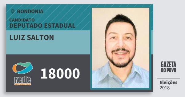 Santinho Luiz Salton 18000 (REDE) Deputado Estadual | Rondônia | Eleições 2018