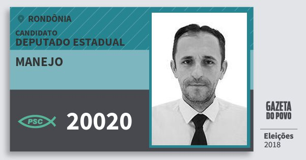 Santinho Manejo 20020 (PSC) Deputado Estadual | Rondônia | Eleições 2018