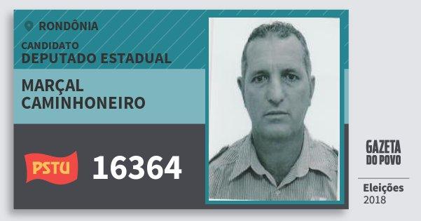 Santinho Marçal Caminhoneiro 16364 (PSTU) Deputado Estadual | Rondônia | Eleições 2018
