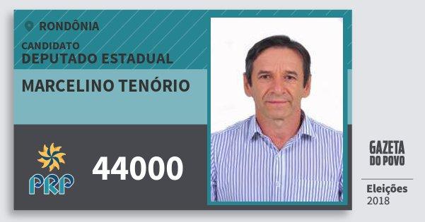 Santinho Marcelino Tenório 44000 (PRP) Deputado Estadual | Rondônia | Eleições 2018