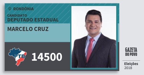 Santinho Marcelo Cruz 14500 (PTB) Deputado Estadual | Rondônia | Eleições 2018