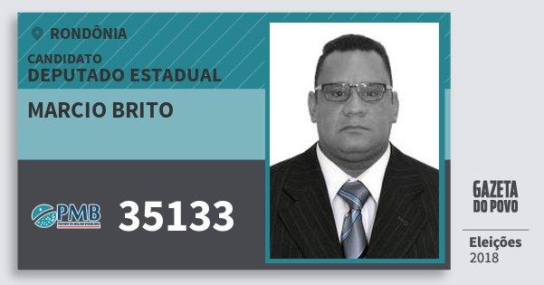 Santinho Marcio Brito 35133 (PMB) Deputado Estadual | Rondônia | Eleições 2018