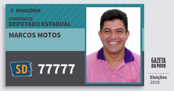 Santinho Marcos Motos 77777 (SOLIDARIEDADE) Deputado Estadual | Rondônia | Eleições 2018