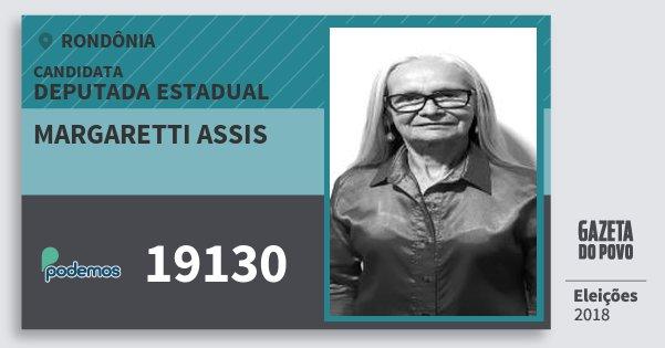 Santinho Margaretti Assis 19130 (PODE) Deputada Estadual | Rondônia | Eleições 2018