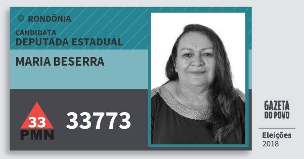 Santinho Maria Beserra 33773 (PMN) Deputada Estadual | Rondônia | Eleições 2018