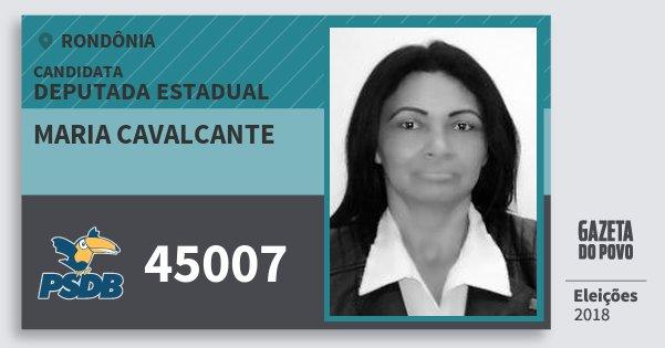 Santinho Maria Cavalcante 45007 (PSDB) Deputada Estadual | Rondônia | Eleições 2018