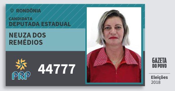 Santinho Neuza dos Remédios 44777 (PRP) Deputada Estadual | Rondônia | Eleições 2018