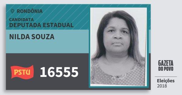 Santinho Nilda Souza 16555 (PSTU) Deputada Estadual | Rondônia | Eleições 2018